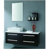 European Wall Mounted Solid Wood Bathroom Vanity