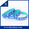 Trendy design silicone wristband MOQ100pcs only on sale