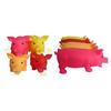 Vinyl pig dog toy