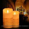 led candle moving flame wax pillar flameless wick led wax candle,led moving wicks candle