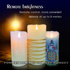 led flameless candle color changing pillar led candles with remote control