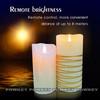 Paraffin Wax 3d Christmas Pillar Flameless Candle