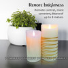 Multicolor candle wax,multicolor led candle light,led flameless candle