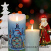 Wax with lavender scent various Color LED lights Christmas Flameless Candles