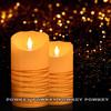wholesale Ivory LED flameless Candle luminara type Wax Pillar Timer Candle
