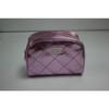 PU quilted pattern cosmetic bag