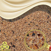 JW-6802 Autumn Fruit-Colorful Artificial Quartz Stone Slab for Countertop
