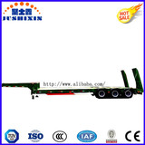 Factory Price 3 Axles 13m Length 60tons Gooseneck Lowbed Semi Trailer with Sidewall for Sale