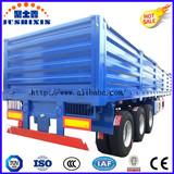 3 Axles Side Wall/Fence Flatbed Semi Truck Superlink Interlink Cargo/Utility Truck Semi Trailer