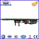 Tri Axle 40FT Flatbed Cargo Semitrailer for Container/Wood