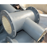 Ceramic wear-resistant pieces posted anti-corrosion pipe