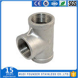 1070 Stainless steel 3 way T shaped equal tee coupling pipe fitting