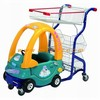 Supermarket interesting Kids plastic shopping cart with toy car for children