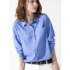Ladies Casual Blouse with Emb at Shoulder