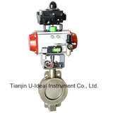 Hard Sealing Double Flanged Pneumatic Butterfly Valve-Control Valve