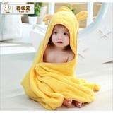 high quality 100% cotton baby hood bath towel