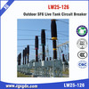 Circuit breaker with SF6 gas