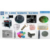 Unikonex UV laser marking in masks, glass, adapter, plastic