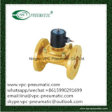 2W series solenoid valve direct act big orifice brass solenoid valve water brass solenoid valve water solenoid valve with flange