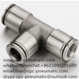 stainless steel pneumatic connector pneumatic fitting air fitting air pneumatic fitting stainless steel PE06