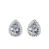Fashion Teardrop CZ Stud Earrings