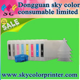 8x Refillable Pigment Ink Cartridges,for Epson 400076009600,UltraChrome Reset