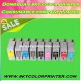 9pcs for epson 3800 pro3800c 3880 3850 empty Refillable Ink Cartridges with chip sensor T5811