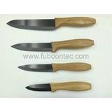 Oak handle ceramic knife