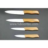 Bamboo handle ceramicknife