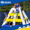 outdoor giant inflatable water floating toys,large inflatable floats with slide for sale