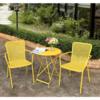 Living room metal furniture patio outdoor metal garden yellow restaurant dining coffee bar backyard deck furniture set