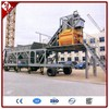 YHZS50 Mobile Concrete Batching Plant Mobile modular type belt conveyor full automatic with 50cbmPh output