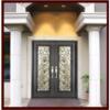 Xiamen Factory Direct Wrought Iron Double Entry Door