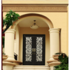 China Arch Top Wrought Iron Double Entry Door for House