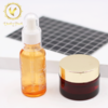 Glass Luxury Cosmetic Packaging Clear Empty Cream Jar with Good design lid