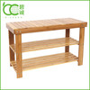 Bamboo Shoe Rack Bench 2 Tier Shoe Organizer