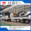 Tire type crusher, mobile crushing station for railways