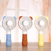 Mini Electric Fan Portable Battery USB Rechargeable Handheld Bear Shape