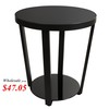 Lifewit Round Side Table Nightstand Snack Coffee Desk
