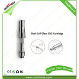 Ocitytimes C5 Hot cbd vapor tank Co2 Hemp oil Cartridge Glass atomizer vape pen