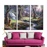 Canvas Painting Wall Pictures for Living Room Giclee Printing Canvas Modern Thomas Kinkade the Snow White and the Seven Dwarfs
