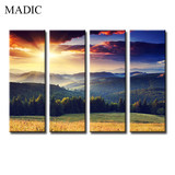 Decorative Landscape Oil Paintings Sunshine on Mountain Beautiful Natural Scenery Art on Canvas Ready to Hang