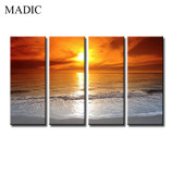 2017 New Canvas Prints Ready to Hang Top Quality Natural Scenery Art Painting Sea in Sunset Ink Jet Printings Wholesale