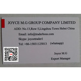 Joyce M.G Group Company supply china Casting and forging products  email tradersoho@gmail.com