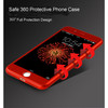 360 Degree Full Cover Phone Case With Tempered Glass Film For iphone 6/6s /6plus/6s plus/ 7 / 7 plus