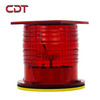 Aviation warning lighting for Broadcast towers telecommunications Buidling/ Low Intensity led solar navigation light with gps