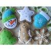 Wool felt Christmas decorations