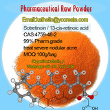 Pharmaceutical Raw Powder Isotretinoin CAS: 4759-48-2 for Severe Acne Treatment