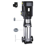 QDLF Vertical stainless steel centrifugal booster pump