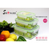 glass meal prep food storage containers with lids